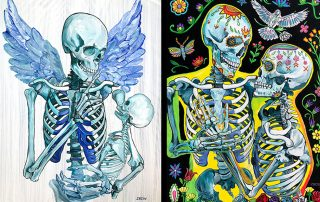 Dark Art 2020 at the Davis Art Center in Fort Myers, Florida with art by Amanda Zirzow