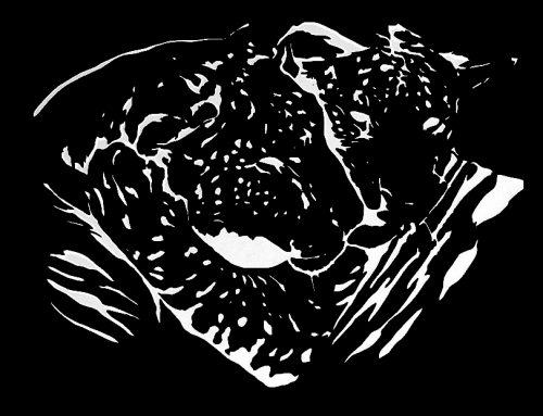 Ligers Light Projection Mural