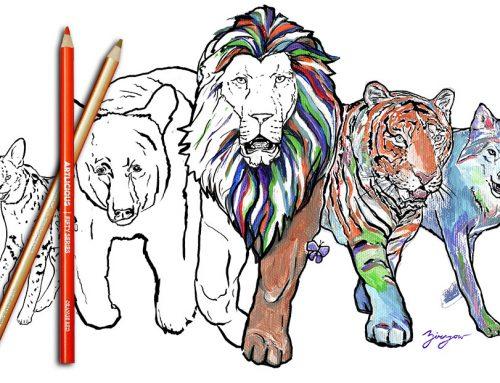 Wildlife Sanctuary Coloring Book
